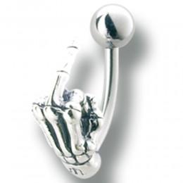Bauchnabelbanane mit Mittelfinger Design