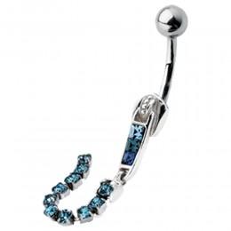 Bauchnabel Piercing mit Reißverschlußdesign