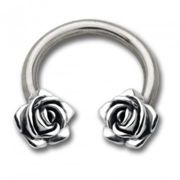 Side Hufeisen Piercing mit Rosen Design
