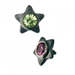 Dermal Anchor Aufsatz Stern mit Kristall