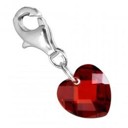 Anhänger Zirkonie Herz, 10mm, rot