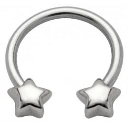 Side Hufeisen Piercing mit Sternen Design