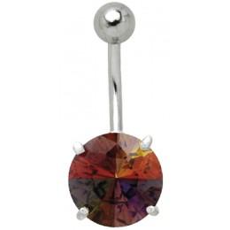Bauchnabel Piercing mit Multi-Color Kristall