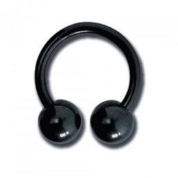 Schwarzer Circular Barbell von 1.2 bis 1.6mm