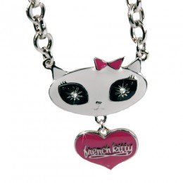 French Kitty Halskette Dangling Heart