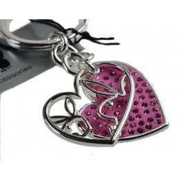 Schlüsselanhänger Playboy Duo Bunny pink - Swarovski Kristalle