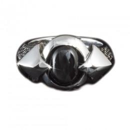 KOOLKATANA Ring mit eingefasstem Onyx