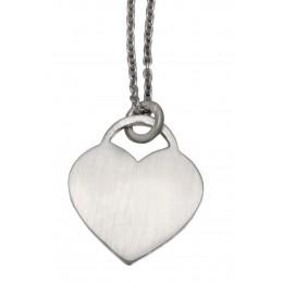 Herzförmiger Silber Anhänger