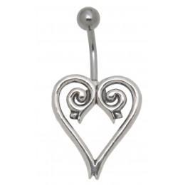 Bauchnabel Piercing  Tribal Line  Chirurgenstahl und 925 Sterling Silber