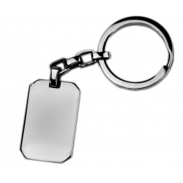 Schlüsselanhänger rechteckig, aus Edelstahl