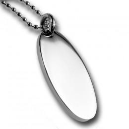 Erkennungsmarke oval aus Edelstahl