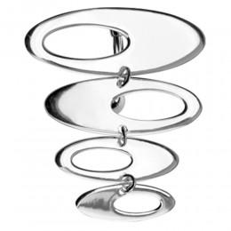 Bauchnabelbanane Chirurgenstahl mit 925*Silber Retro-Design