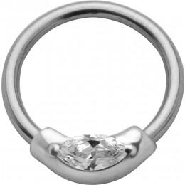 Ball Closure Ring mit Swarovski Kristall
