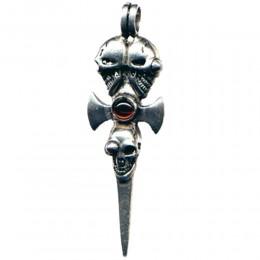 Anhänger Schwert mit Totenkopf
