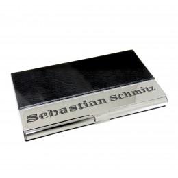 Hochwertige Visitenkartenbox aus Edelstahl mit individueller Gravur