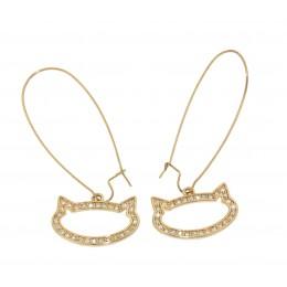 SONDERANGEBOT: Ohrringe mit Katzenkopf Silhouette