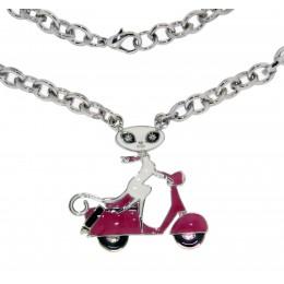 Halskette French Kitty auf Roller
