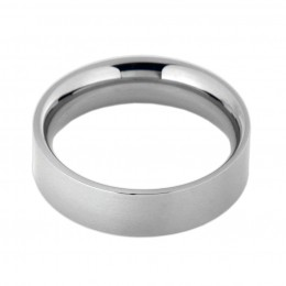 Ring 316L Stahl, Breite 6mm, hochglanzpoliert