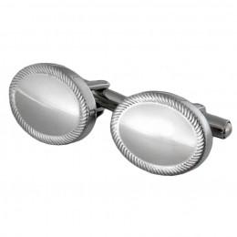 Manschettenknöpfe aus Edelstahl in ovaler Form