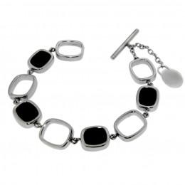 Armband aus Edelstahl mit Schmucksteinen