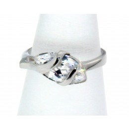 925 Silber Ring mit Navette