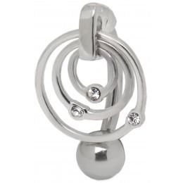 Bauchnabel Piercing Piercing gebogen Bauchnabel 925 Sterling Silber Motiv