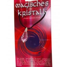Kristallanhänger mit Kordelkette und Karte