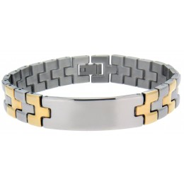 Armband Edelstahl, bicolor stahl und PVD gold