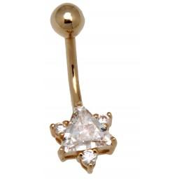 9 Karat Gold Bauchnabel Piercing