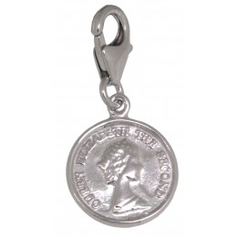 Anhänger Münze mit Königin Elisabeth aus 925 Sterling Silber
