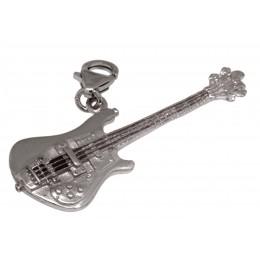 Anhänger Baßgitarre aus 925 Sterling Silber