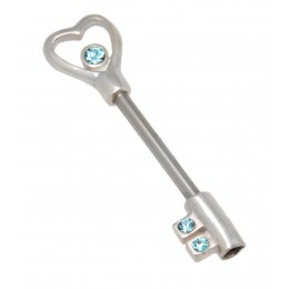 Brustwarzenpiercing aus 316L Stahl und 925 Sterling Silber - Schlüssel