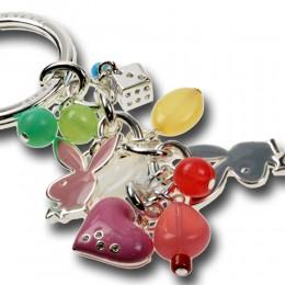 Playboy-Schlüsselanhänger mit Glasperlen und Bunnies