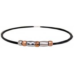 Collier Edelstahl/Nylon  mit Tungsten-Elementen