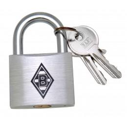 FANSCHLOSS Borussia Mönchengladbach, Aluminiumschloss mit Wunschgravur