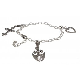 """925 Sterling Silber Bettel-Armband  """"forever yours"""""""