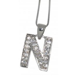 Anhänger Sterling Silber  Buchstabe N