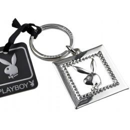 Original Playboy Schlüsselanhänger mit Kristallen und Bunny