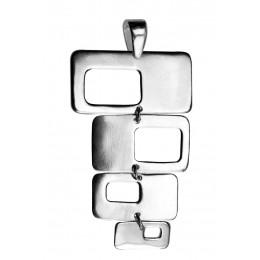 Kettenanhänger aus Sterling Silber 4 Rechtecke