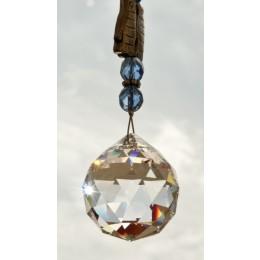 Feng Shui Sonnenfänger Doppelfisch mit großem Swarovski Kristall