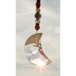feng shui sonnenf nger mond mit gro em swarovski kristall cs 07. Black Bedroom Furniture Sets. Home Design Ideas