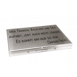 Zigarettenetui aus Edelstahl für 100er Zigaretten mit Ihrer eigenen Gravur