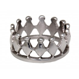 Edelstahlring hochglänzend Krone