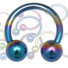 Hufeisen Piercingbzw. Hufeisen Piercingring aus Titan in 1.0 bis 1.6mm Stärke in diversen Farben. Wählen Sie zunächst die gewün