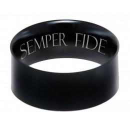 Edelstahlring schwarz PVD beschichtet 9.7mm Breite mit individueller Wunschgravur