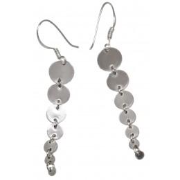 Edle Sterling Silber-Ohrringe im Retrolook