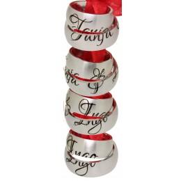 Zwei Partner-Ringe mit Namensgravur