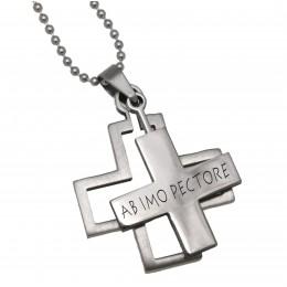 Kreuz zweiteilig mit Ihrer Gravur und Kette