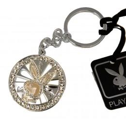 Playboy Schlüsselanhänger aus Metall mit einer hochwertigen Platinbeschichtung