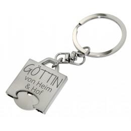 Schlüsselanhänger Einkaufswagen-Chip mit Ihrer Wunschgravur